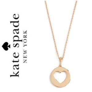 NWT Kate Spade Heart cutout pendant gold tone